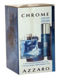 Azzaro Chrome komplet (100 ml EDT & 150 ml DEO spray)