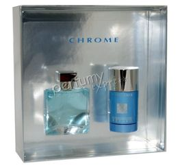Azzaro Chrome komplet (50 ml EDT & 75 ml DEO sztyft)