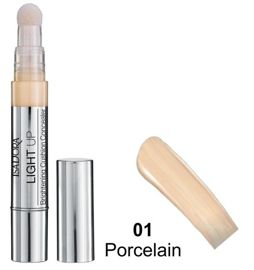 IsaDora Rozświetlający korektor z gąbką Light Up Cushion Concealer nr 01 Porcelain 4,2 ml