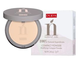 Pupa NATURAL SIDE COMPACT POWDER Puder matujący nr 001, 7g