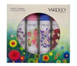 Yardley Komplet Dezodorantów Body Spray 75 ml x 4 (Lavender & Rose & Bluebell & Dahlia)